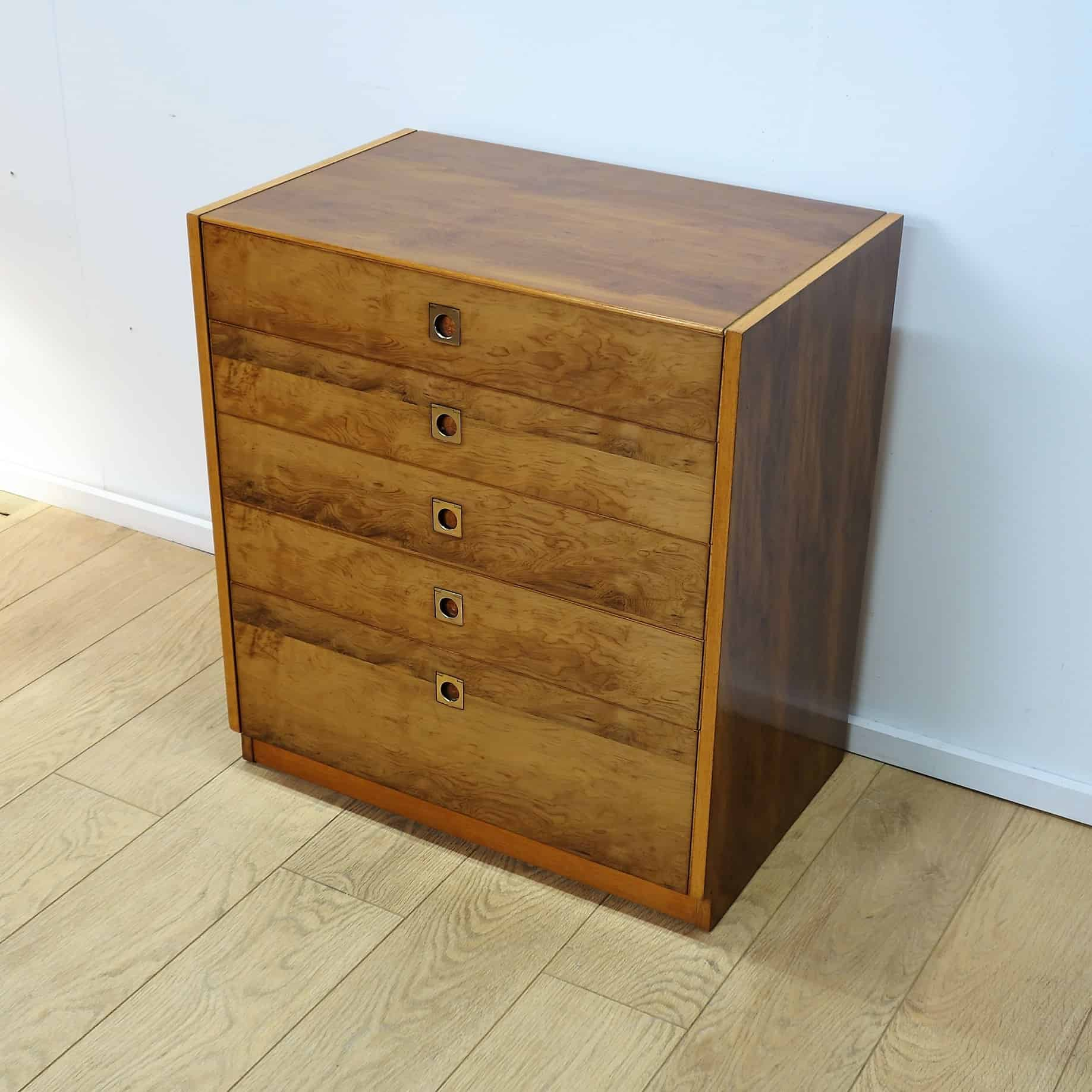 Yew chest of drawers by Robert Heritage