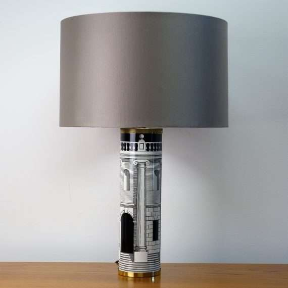 Ceramic lamp by Fornasetti