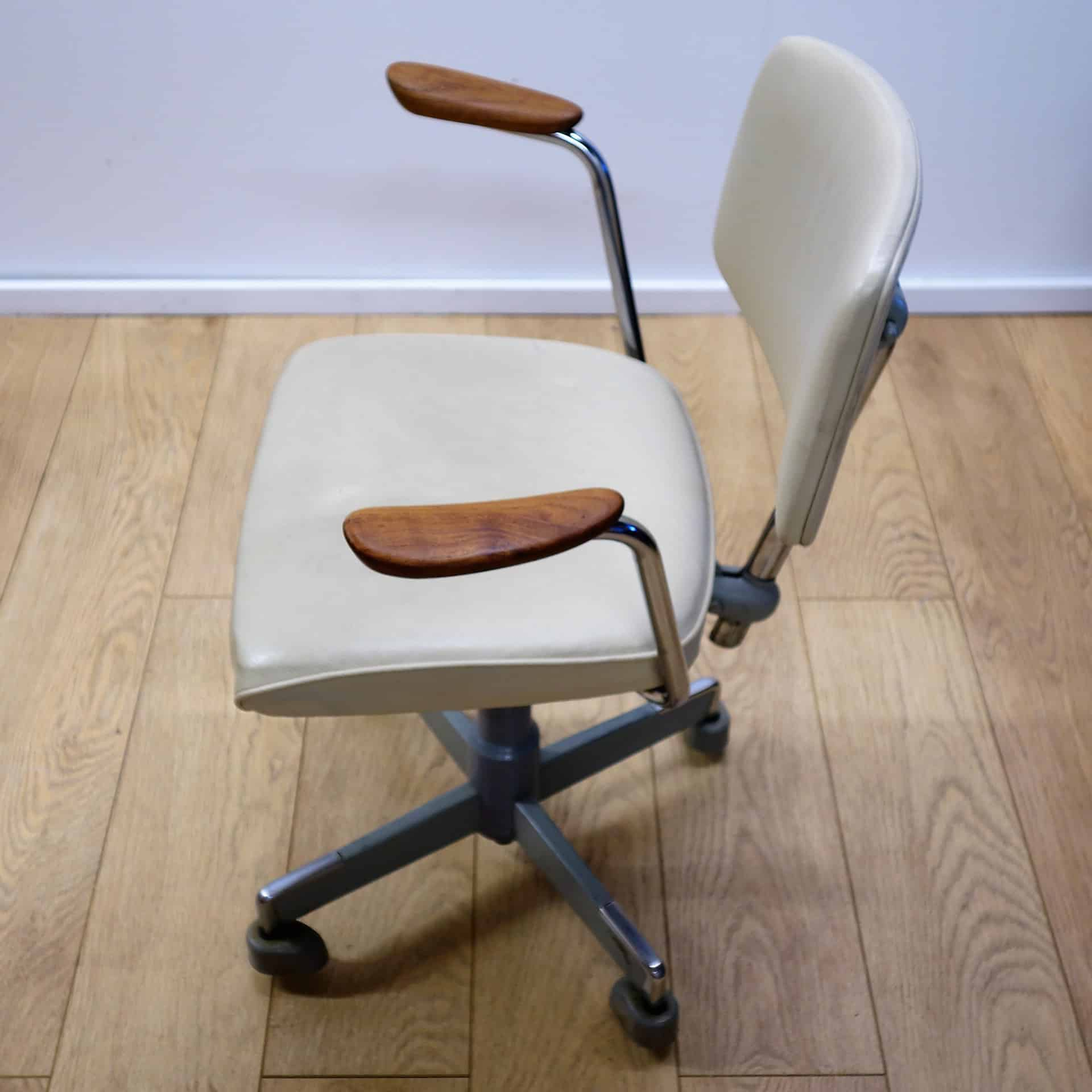 1960s Leather office chair by Hag Norway