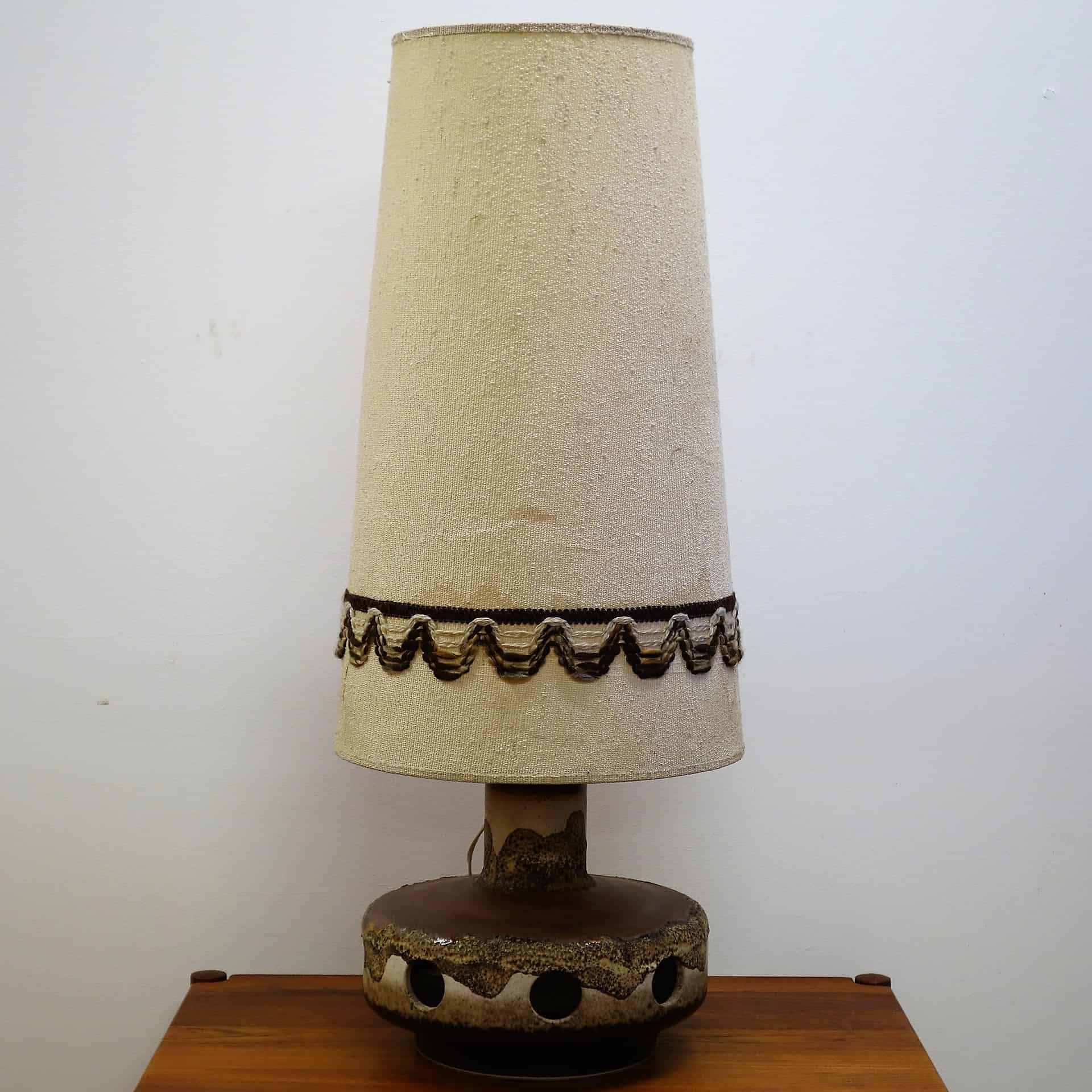 1970s West German ceramic table lamp