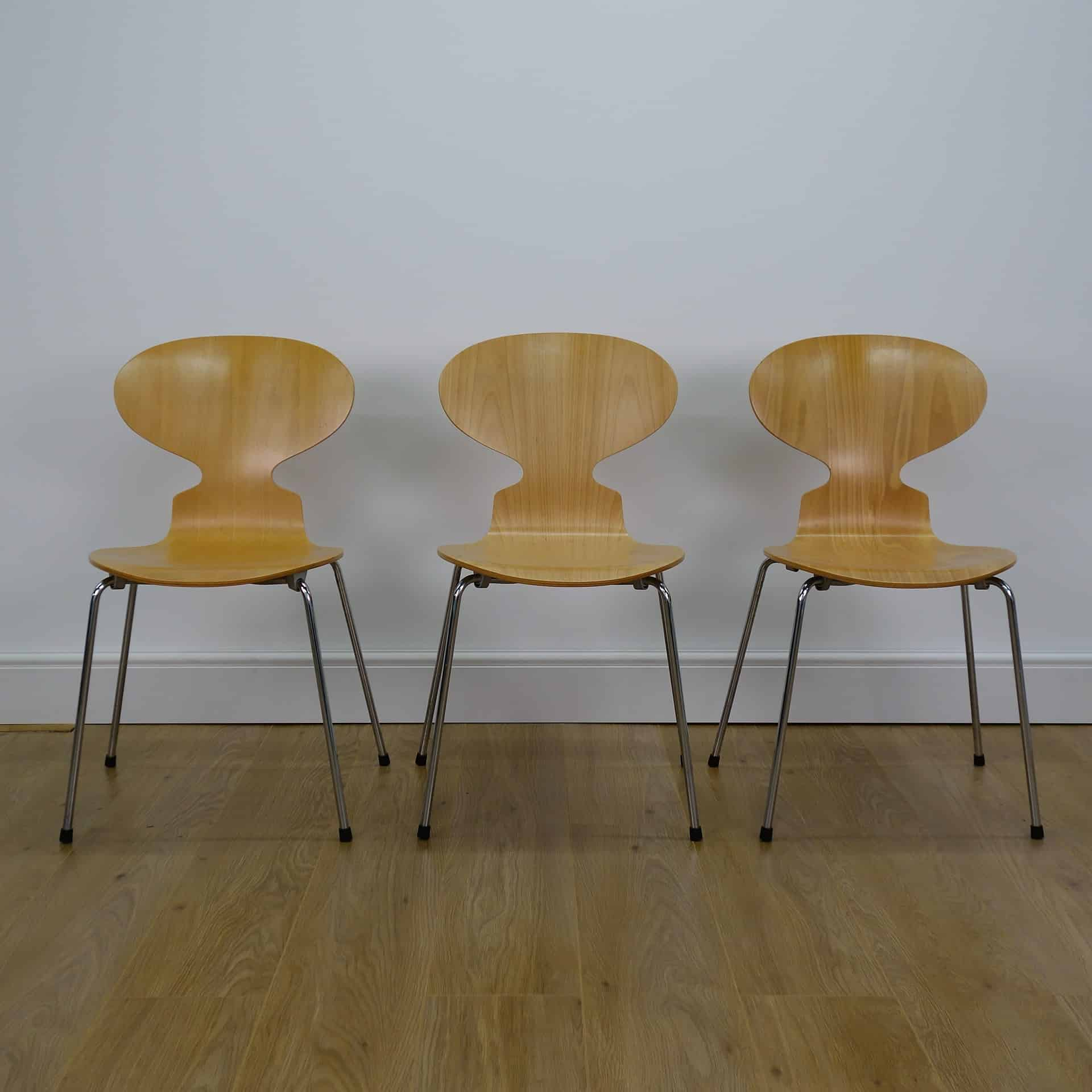 Beech ant chairs by Arne jacobsen