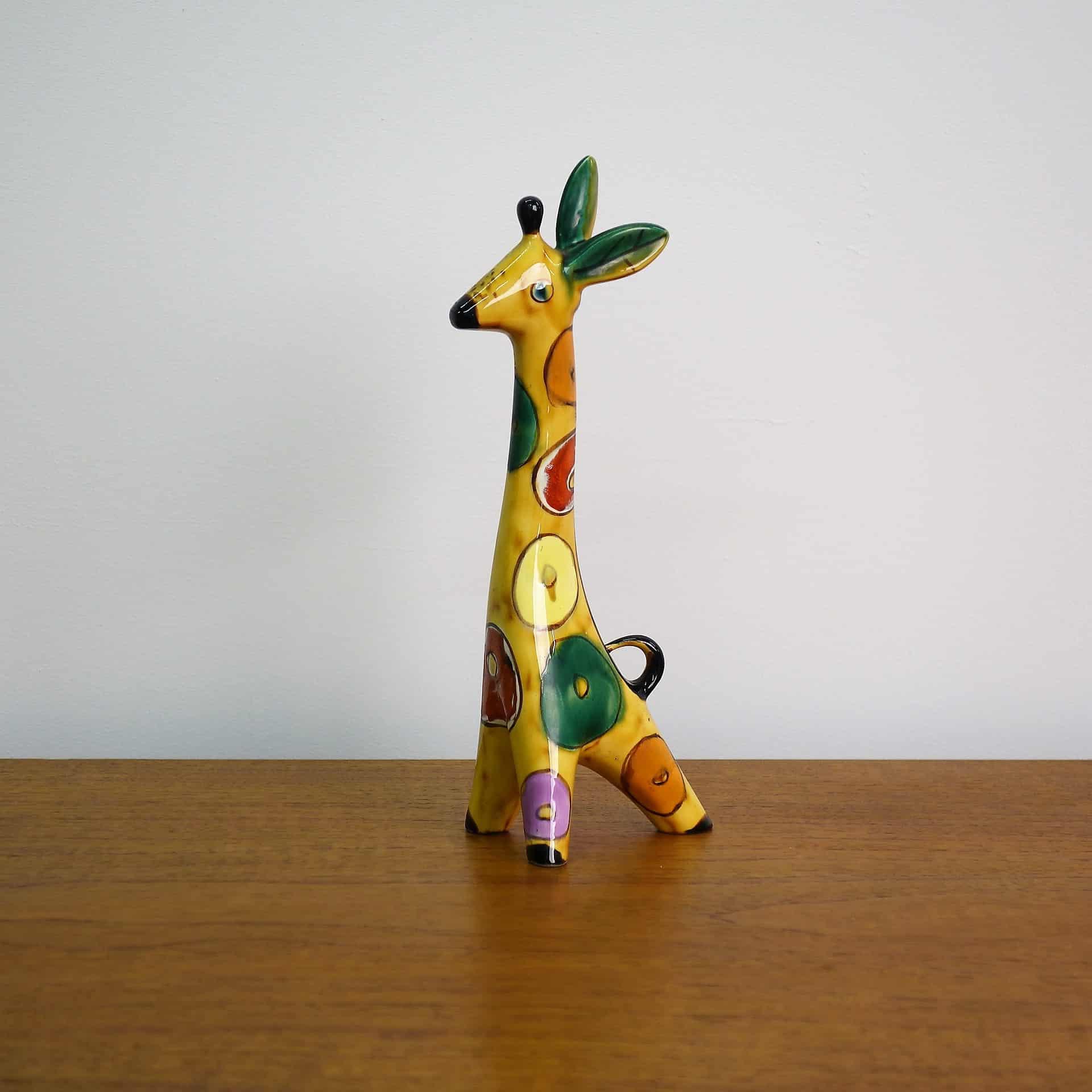 1960s ceramic giraffe made in the USSR