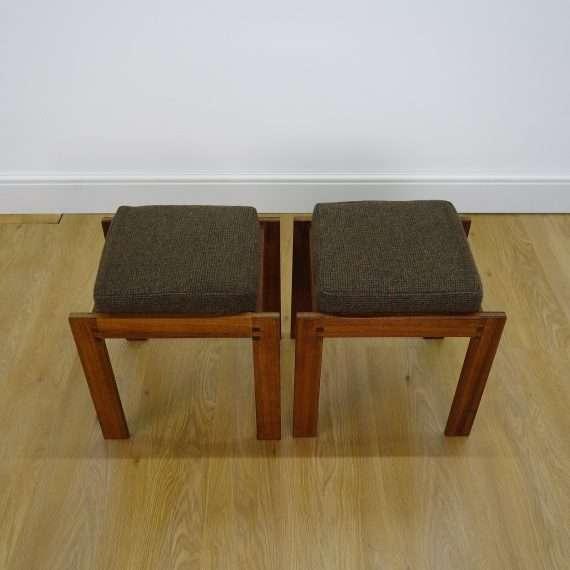 1960s teak modernist stools