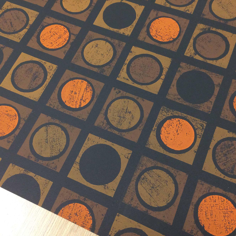 1970s vintage circle design Vymura wallpaper