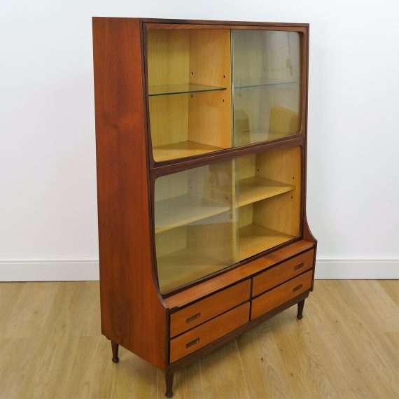 1960s teak display cabinet by Meredew