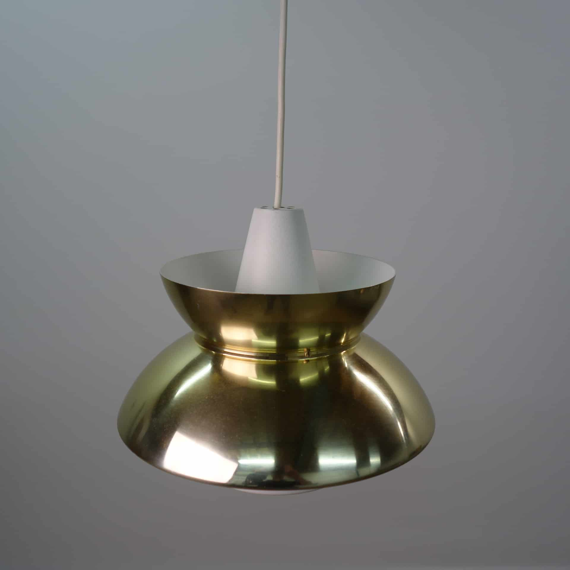 Poulsen style brass pendent light