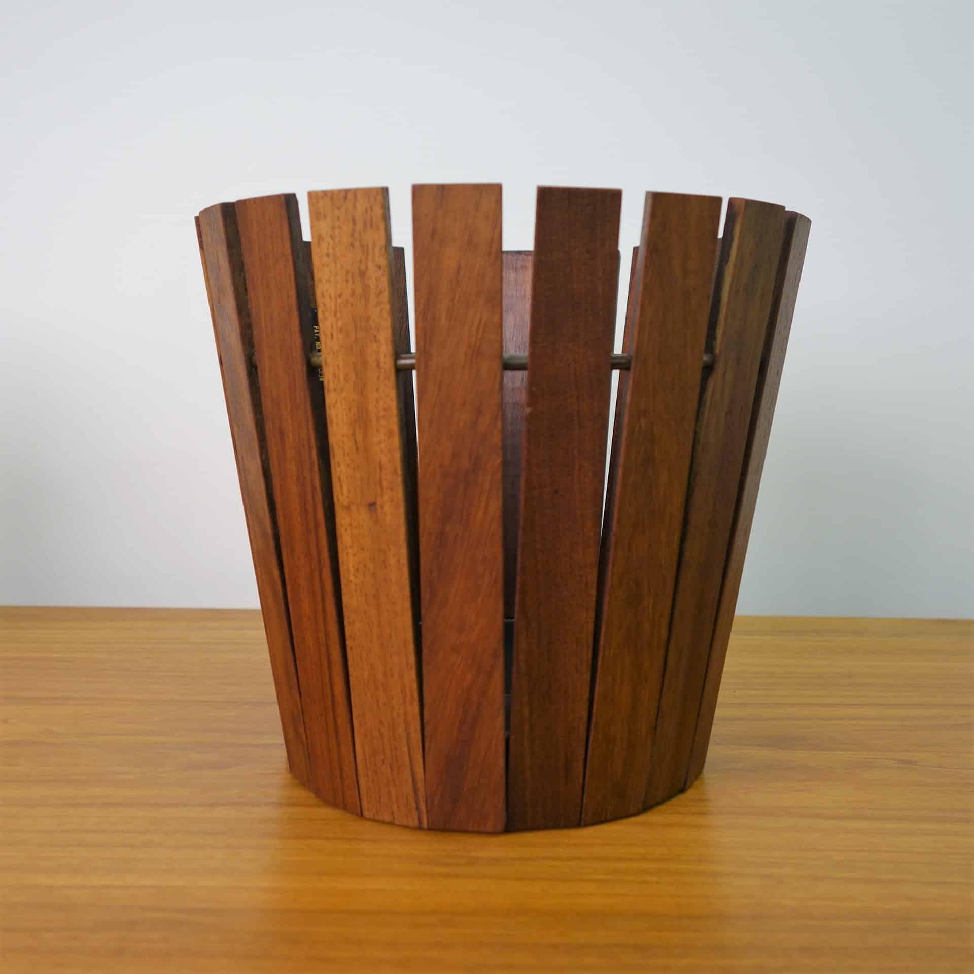 1960s teak Gladlyn ware plant holder