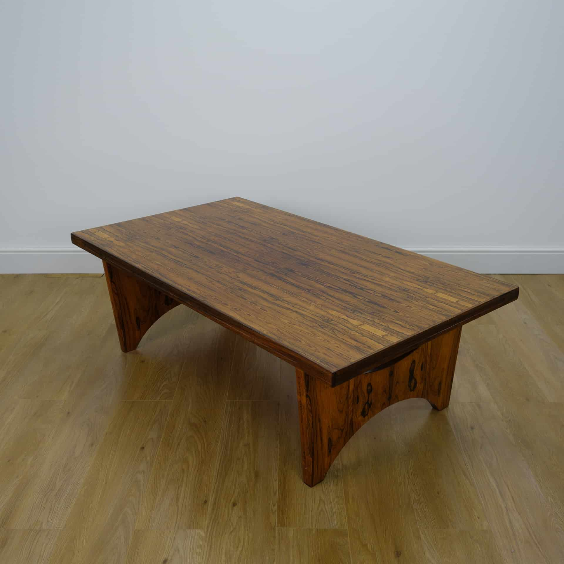 Large 1970s rio rosewood coffee table by Torpe Norway