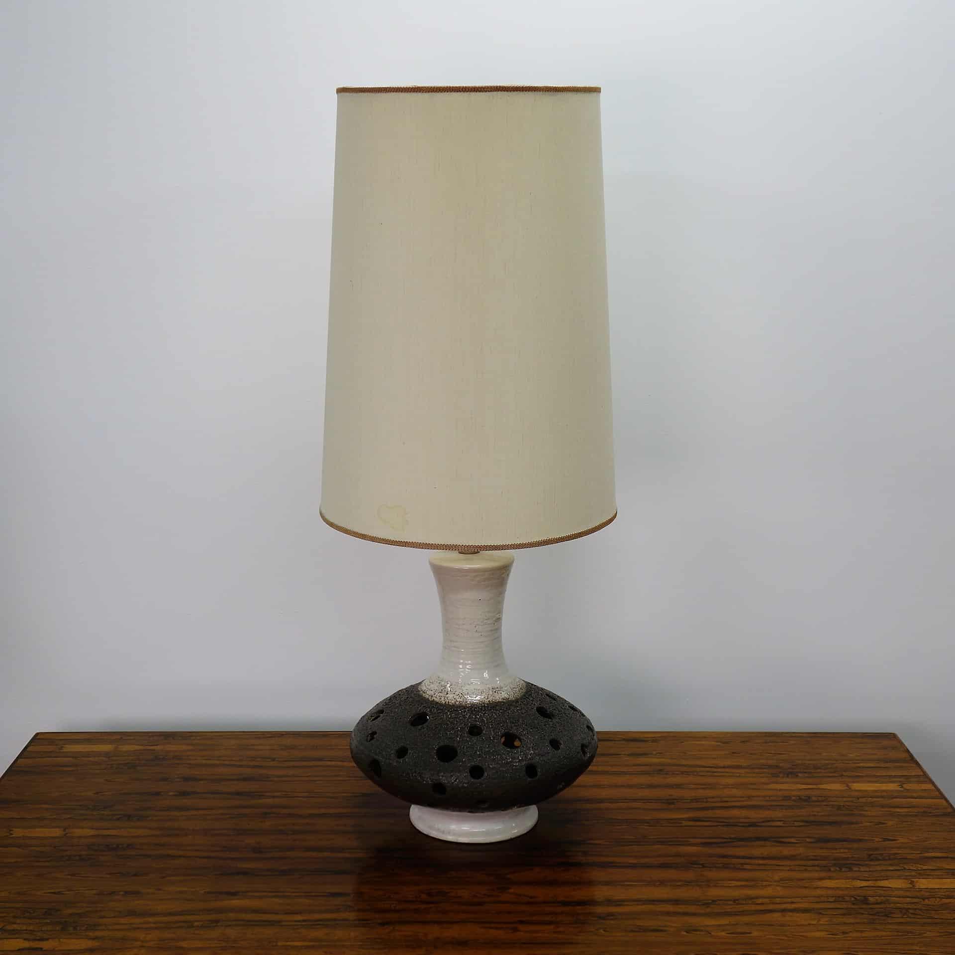 1970s West German pierced tall table lamp