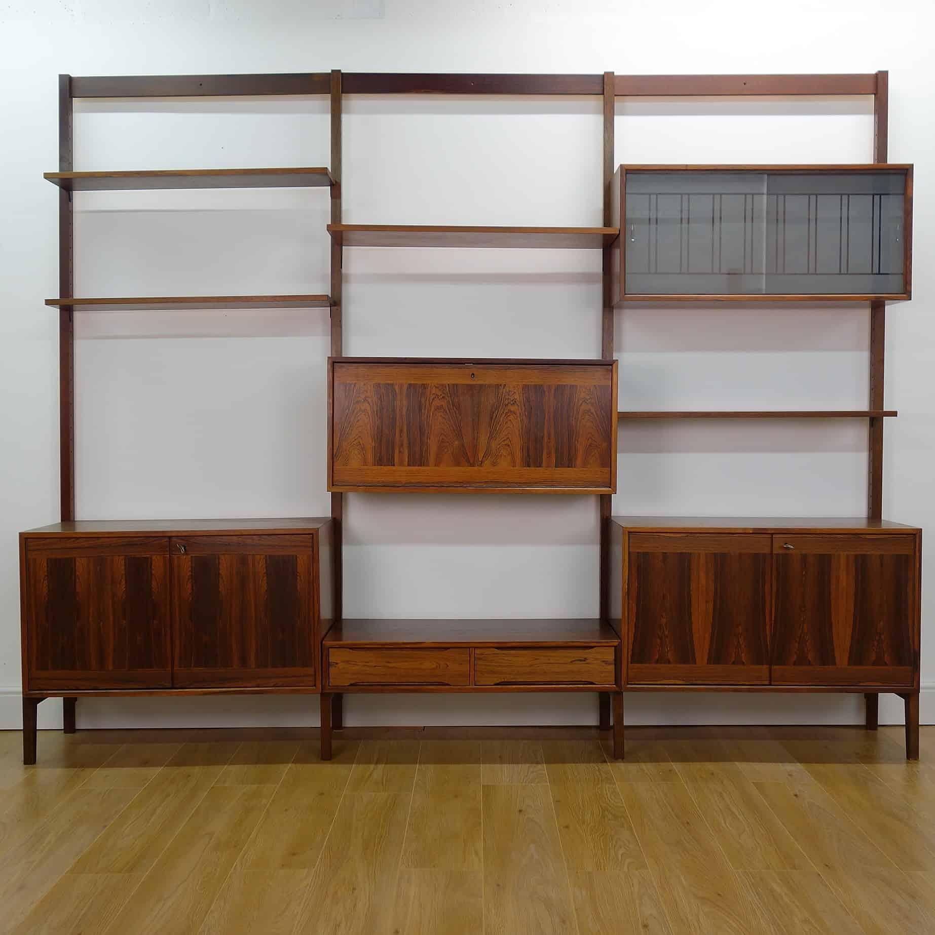 1960s rosewood modular sideboard storage unit