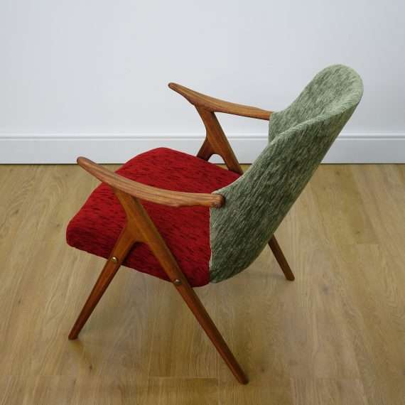 Small 1950s Danish teak arm chair