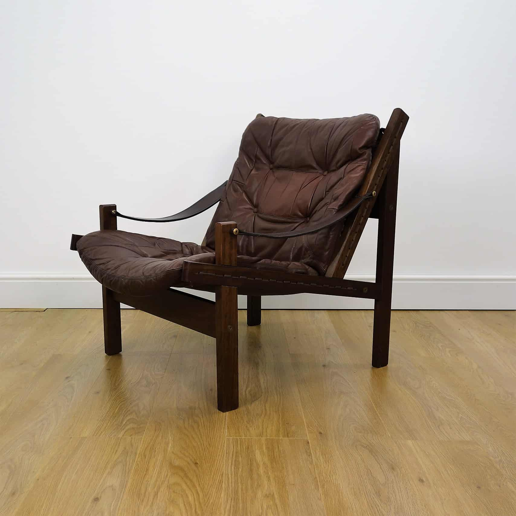 1960s leather Hunter chair by Torbjørn Afdal Norway