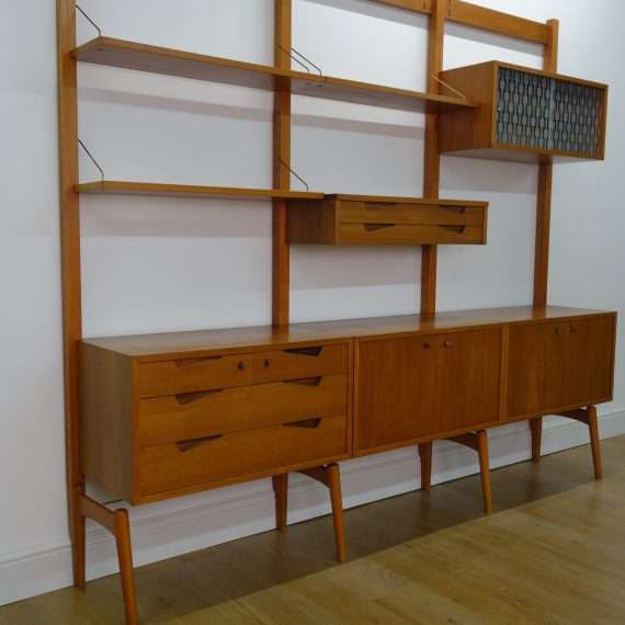 60s teak modular wall unit
