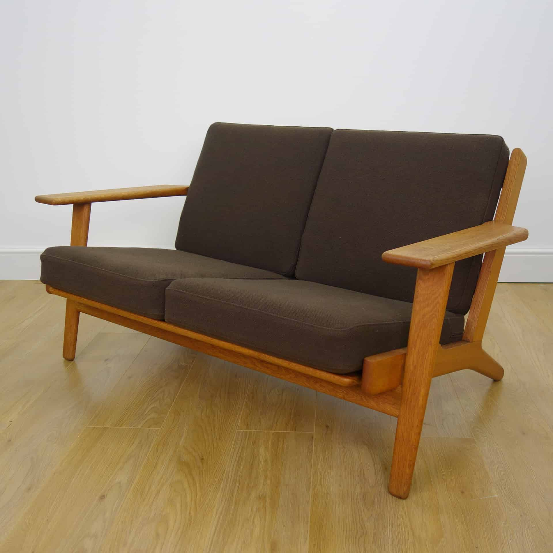 1960s 2 seat plank sofa by hans wegner mark parrish mid century modern