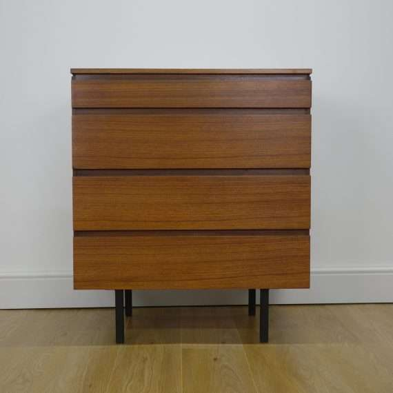 1960s walnut chest of drawers by Meredew