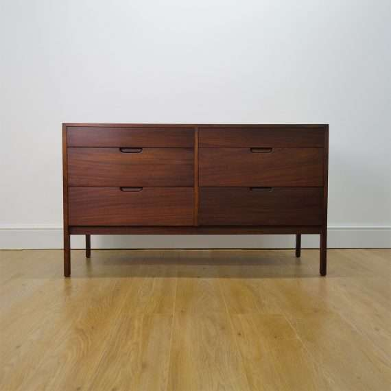 Double teak chest of drawers by Richard Hornby