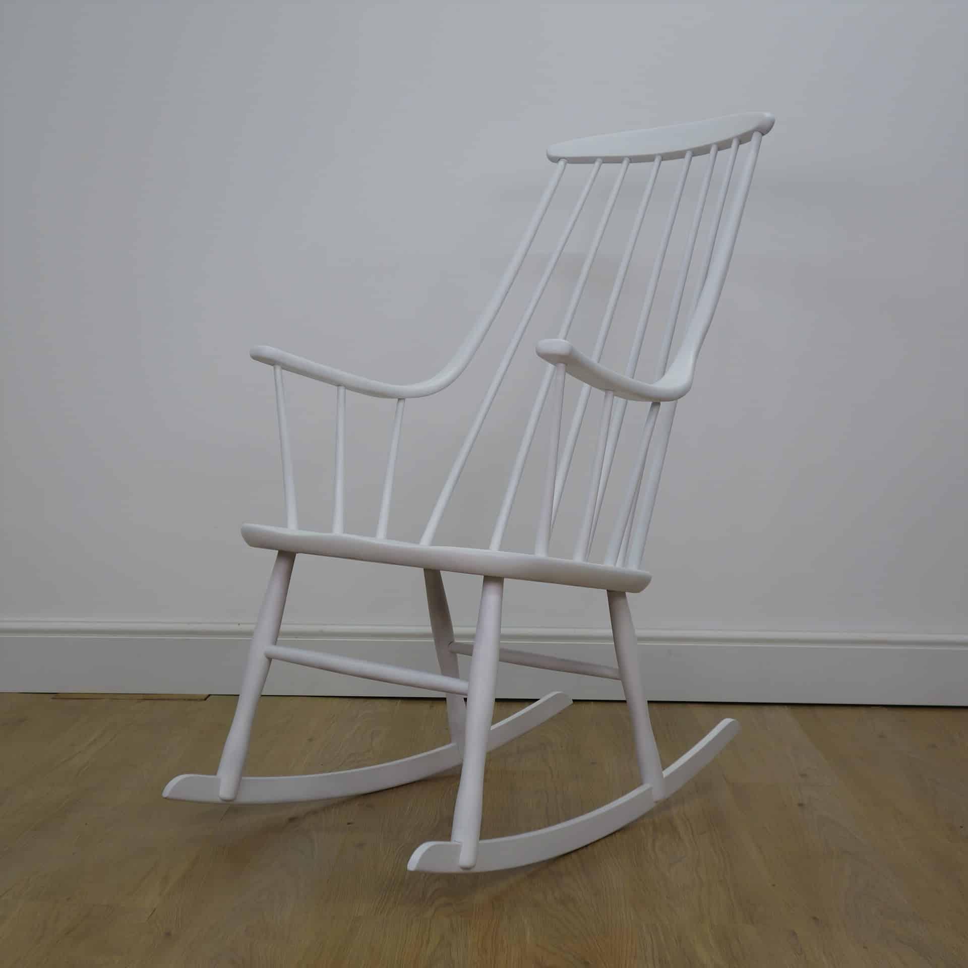 White Grandessa rocking chair by Lena Larsson