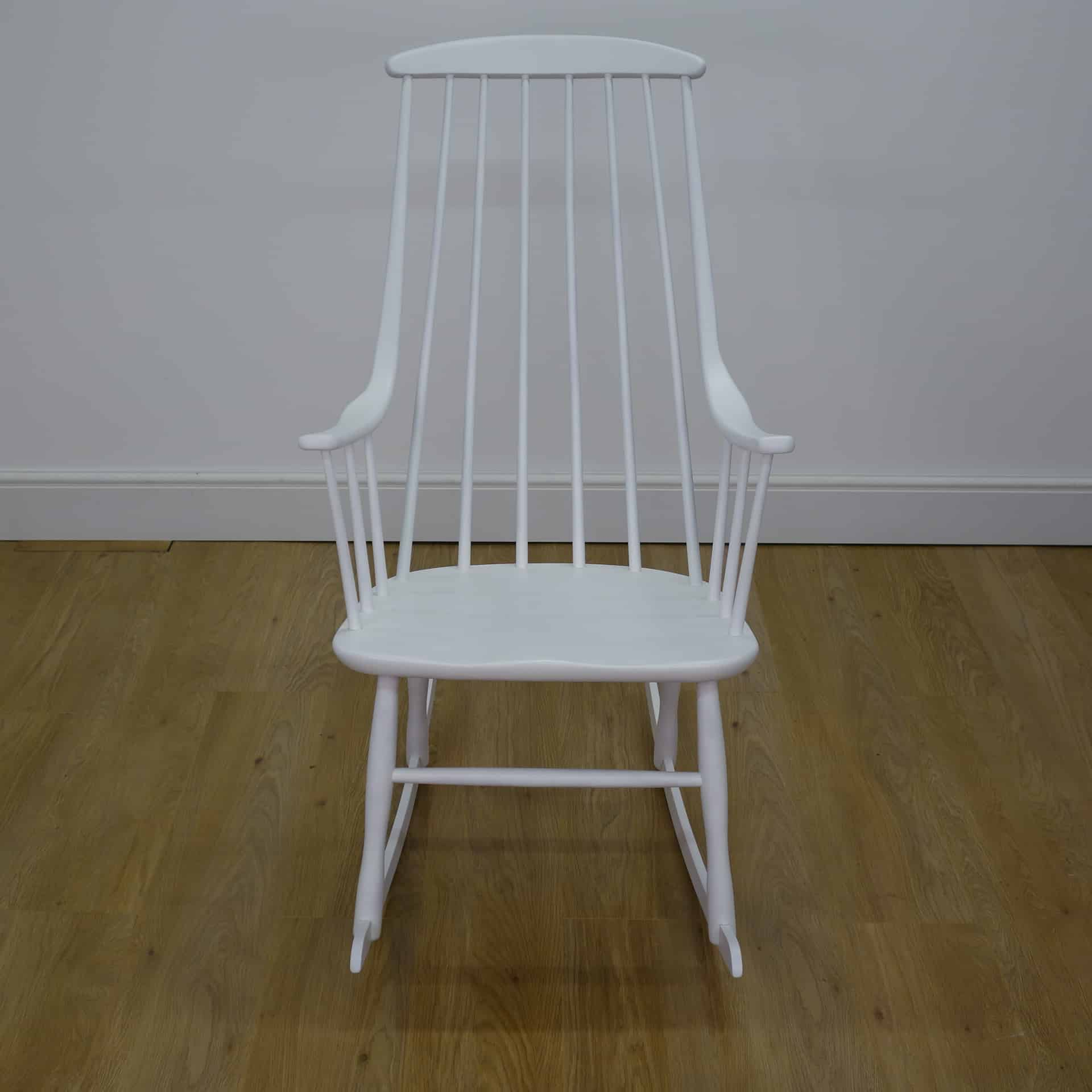 White Grandessa Rocking Chair By Lena Larsson Mark