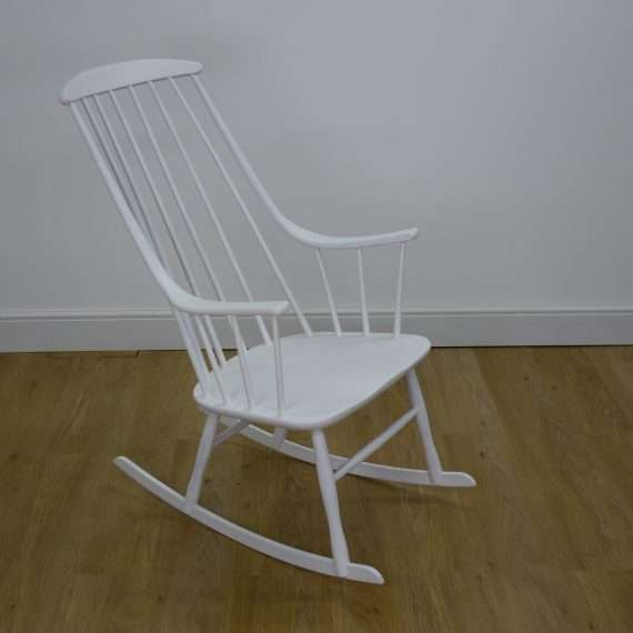 White Grandessa rocking chair by Lena Larsson