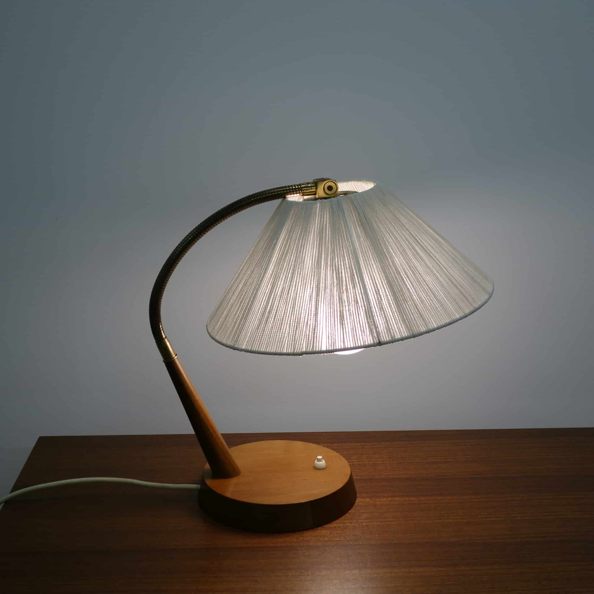 1960s teak desk lamp by Temde Leuchten