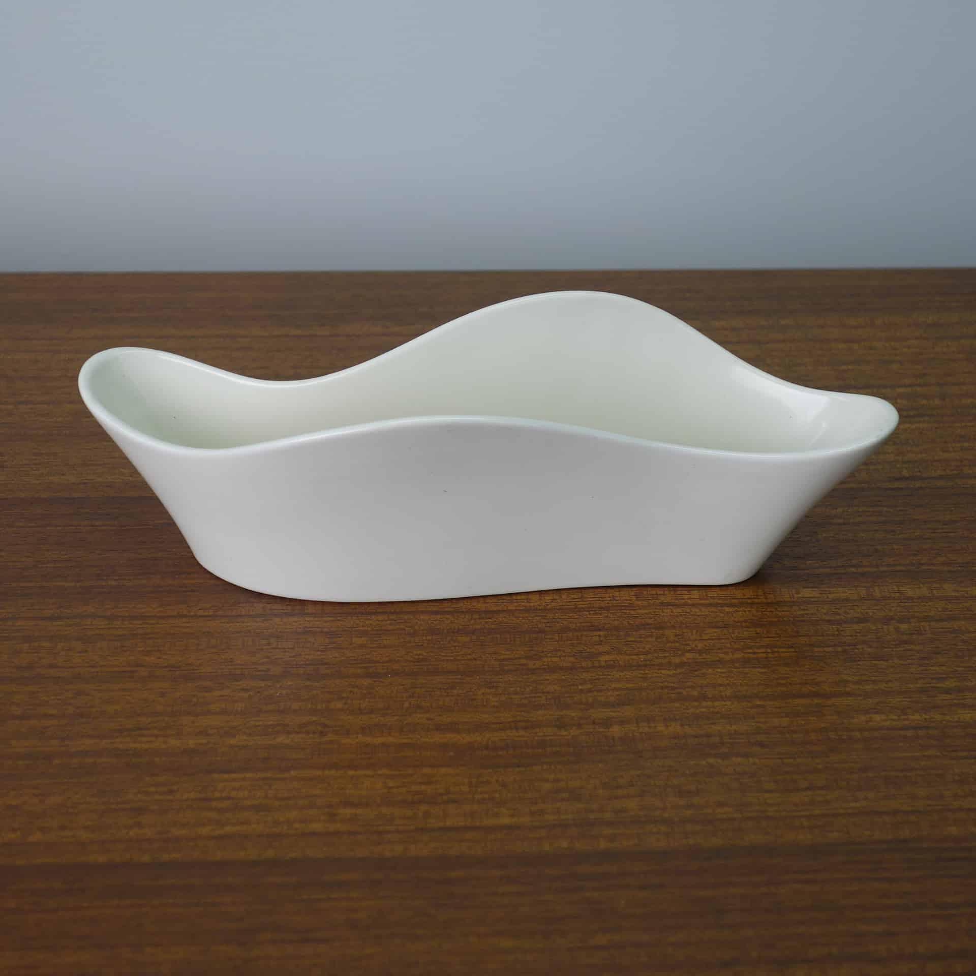 White Poole freeform undulating dish