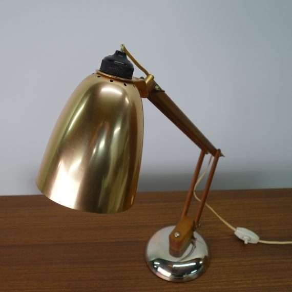 1960s copper adjustable desk light by Maclamp