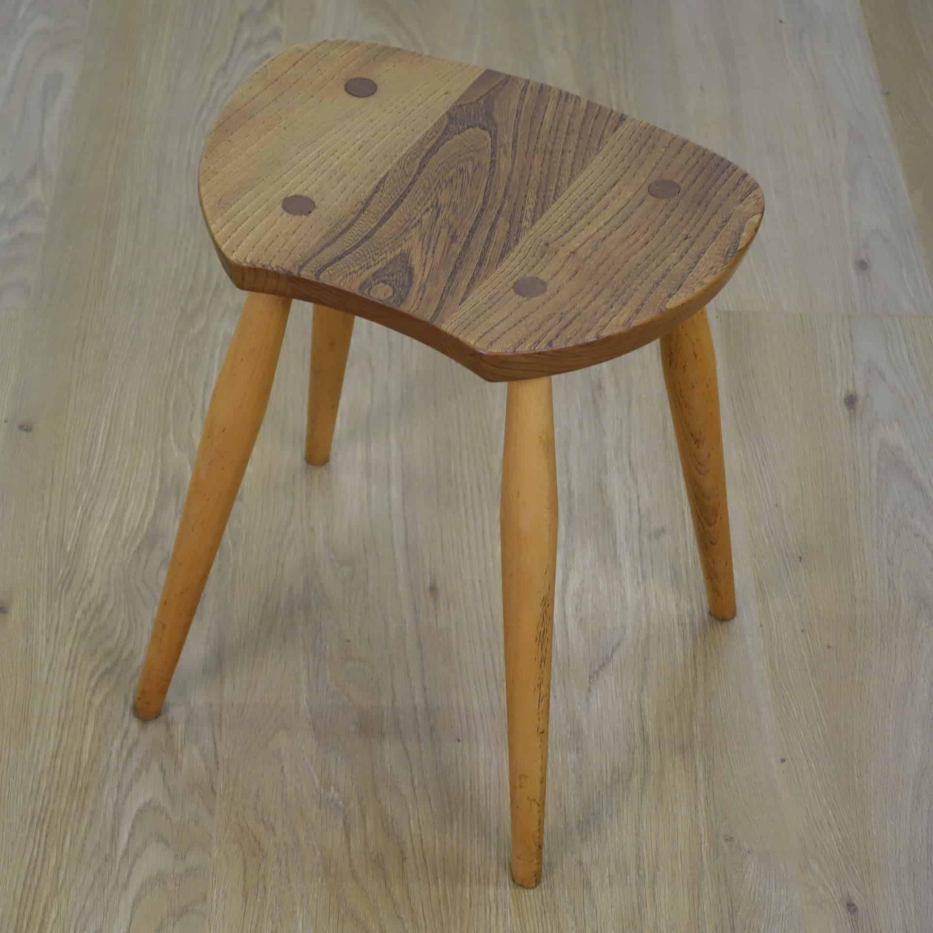 Rare 1960s Ercol saddle stool