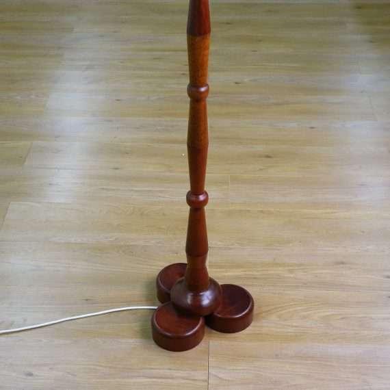 Unusual 60s teak standard lamp