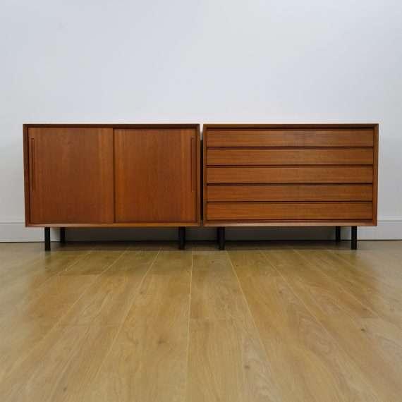 Pair of 1960s Danish teak sideboard/drawers