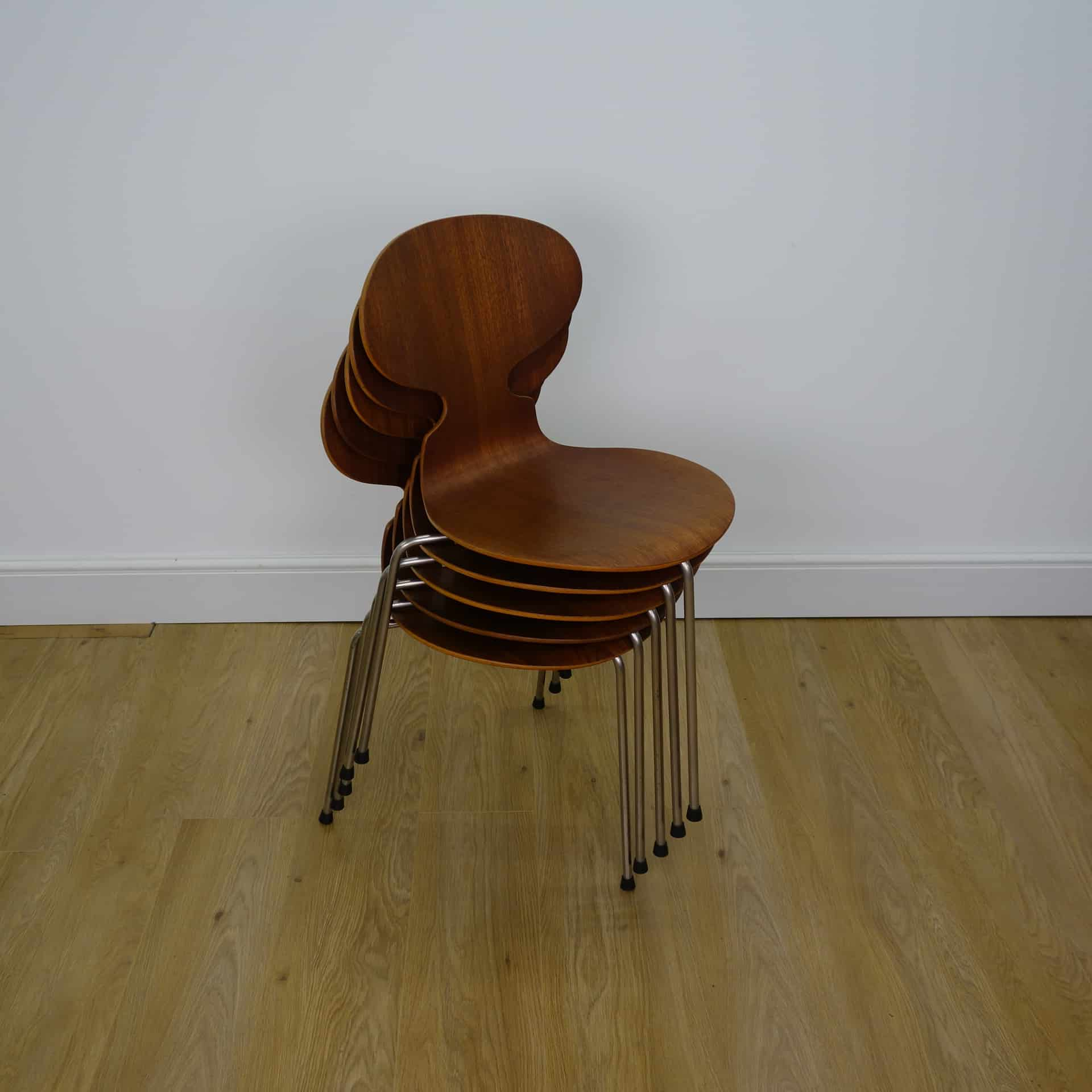 1950s teak ant chairs by Arne Jacobsen for Fritz Hansen