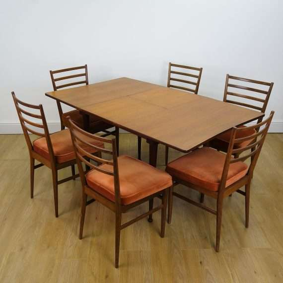 1960s Teak dining table and chairs by Meredew
