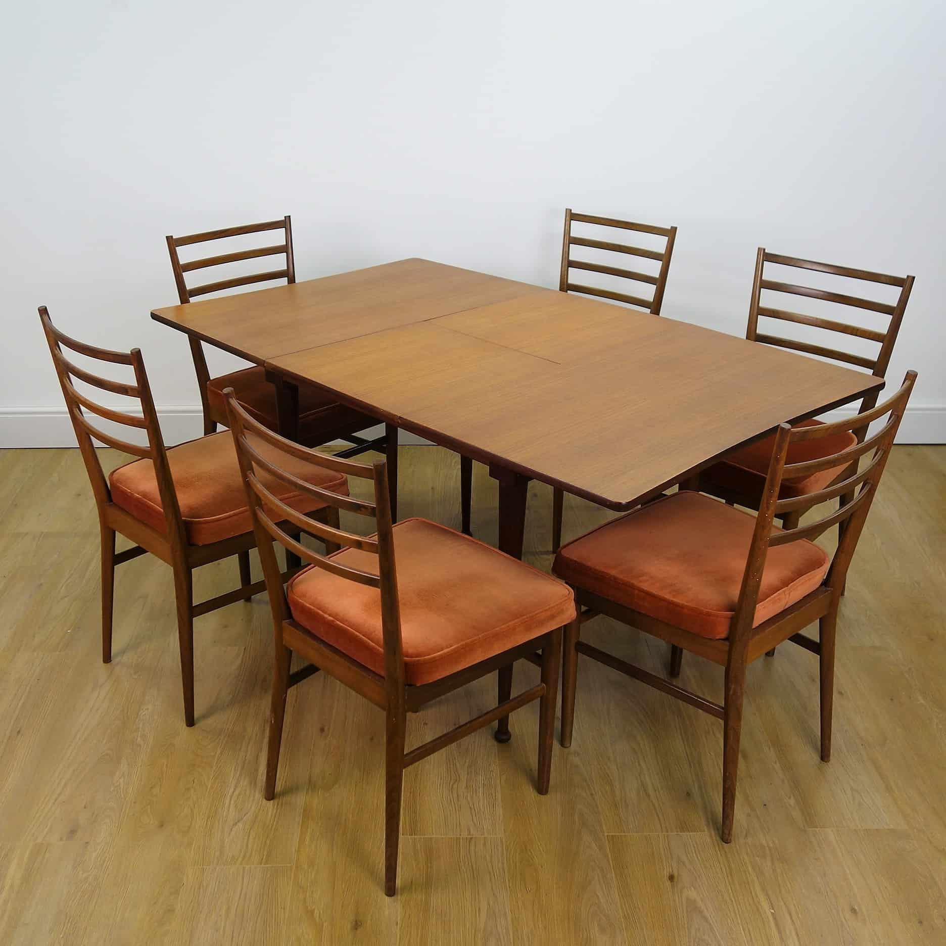 1960s Teak dining table and chairs by Meredew - Mark ...