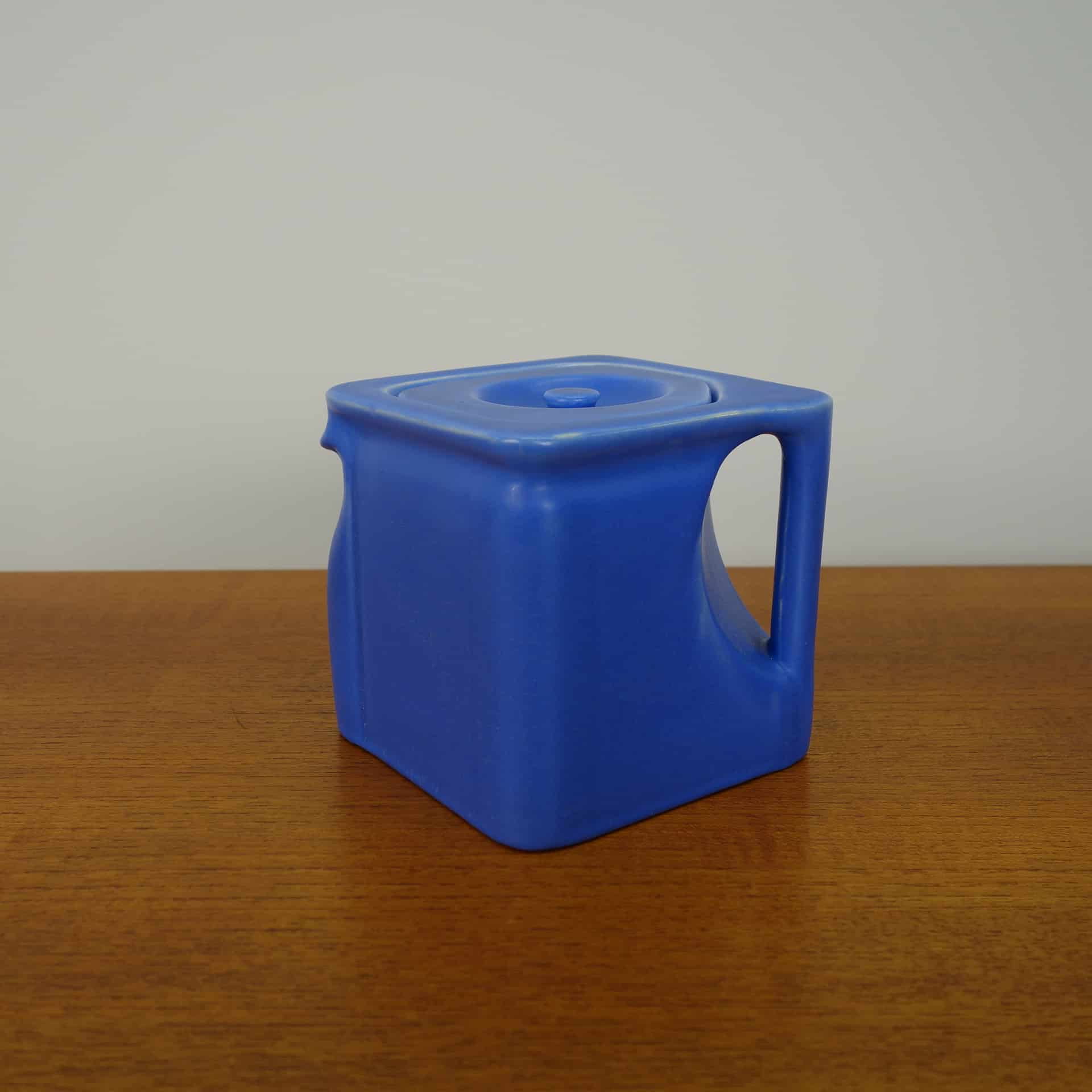 Original blue Cube tea pot from the 1920s
