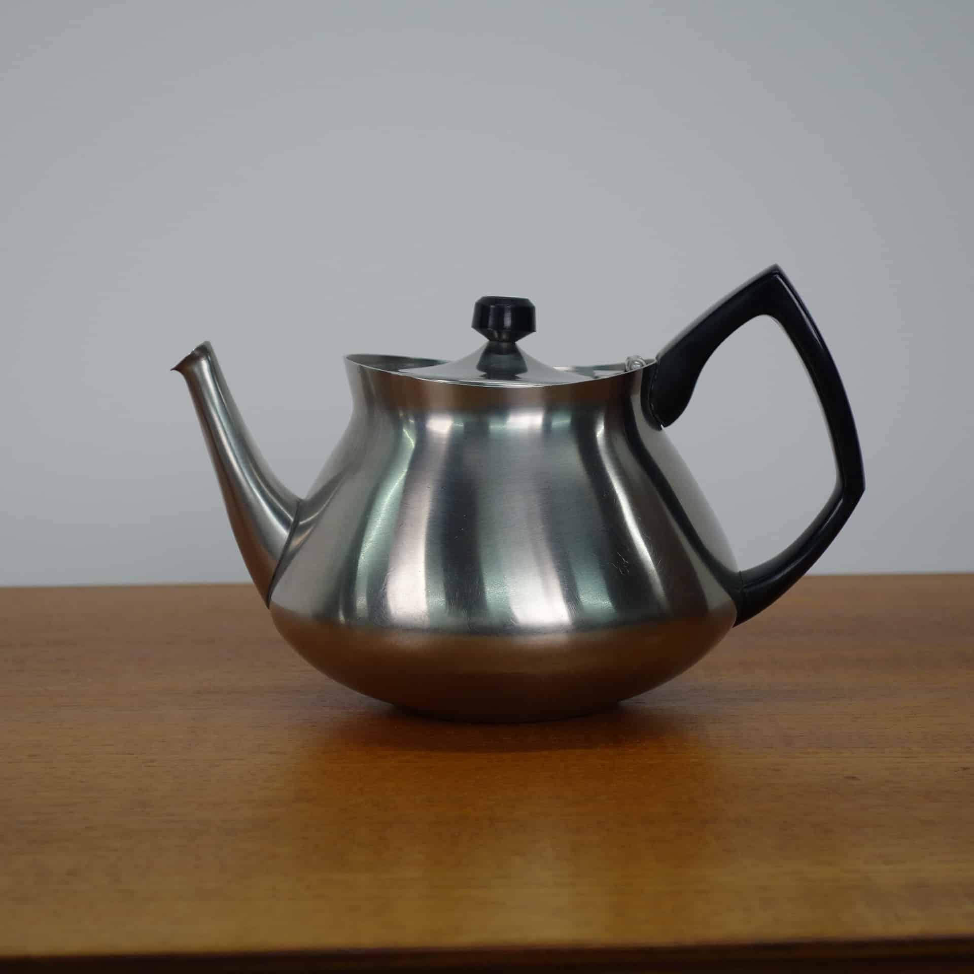 Eric Clements stainless steel tea pot for Bramah