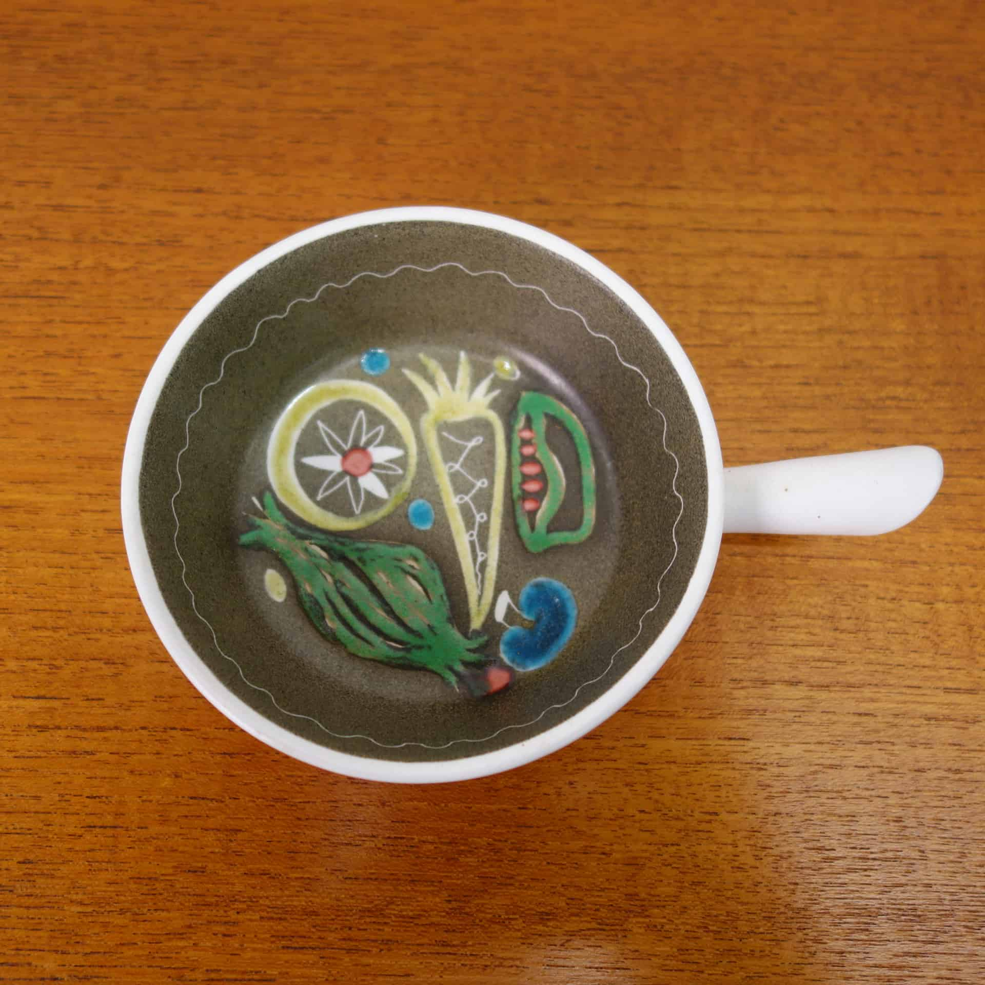 1960s cloisonne handled dish by Glyn Colledge