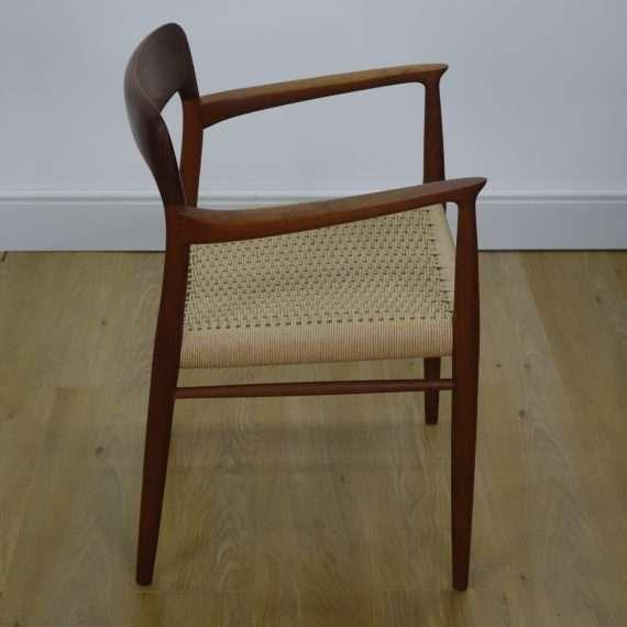 Set of 4 teak model 75 chairs by Niels Moller