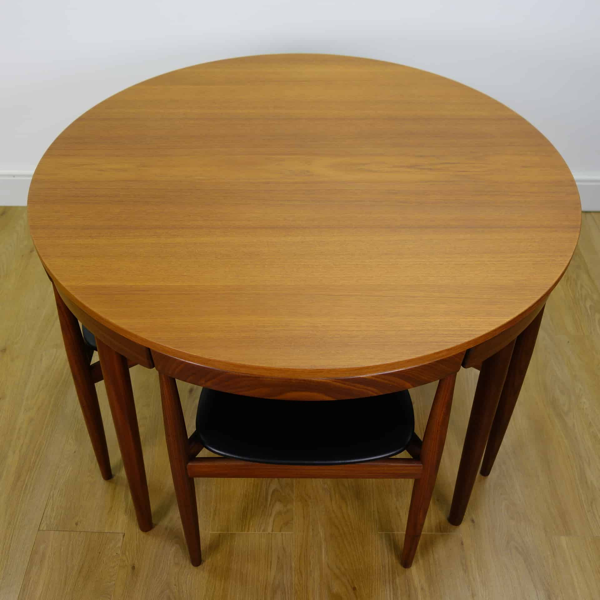 Danish Teak Dining Table And Chairs By Frem Rojle Mark