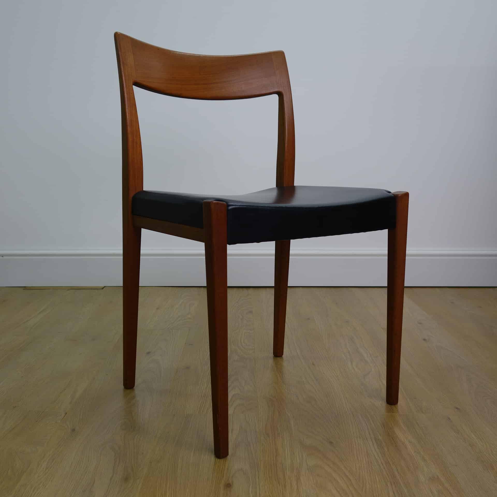 Swedish teak dining chairs by Yngve Ekstrom for Troeds