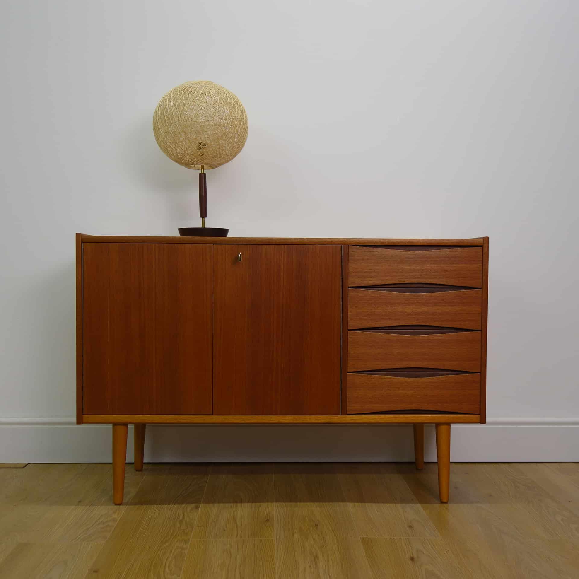 1960s teak and brass table lamp - Mark Parrish Mid Century ...