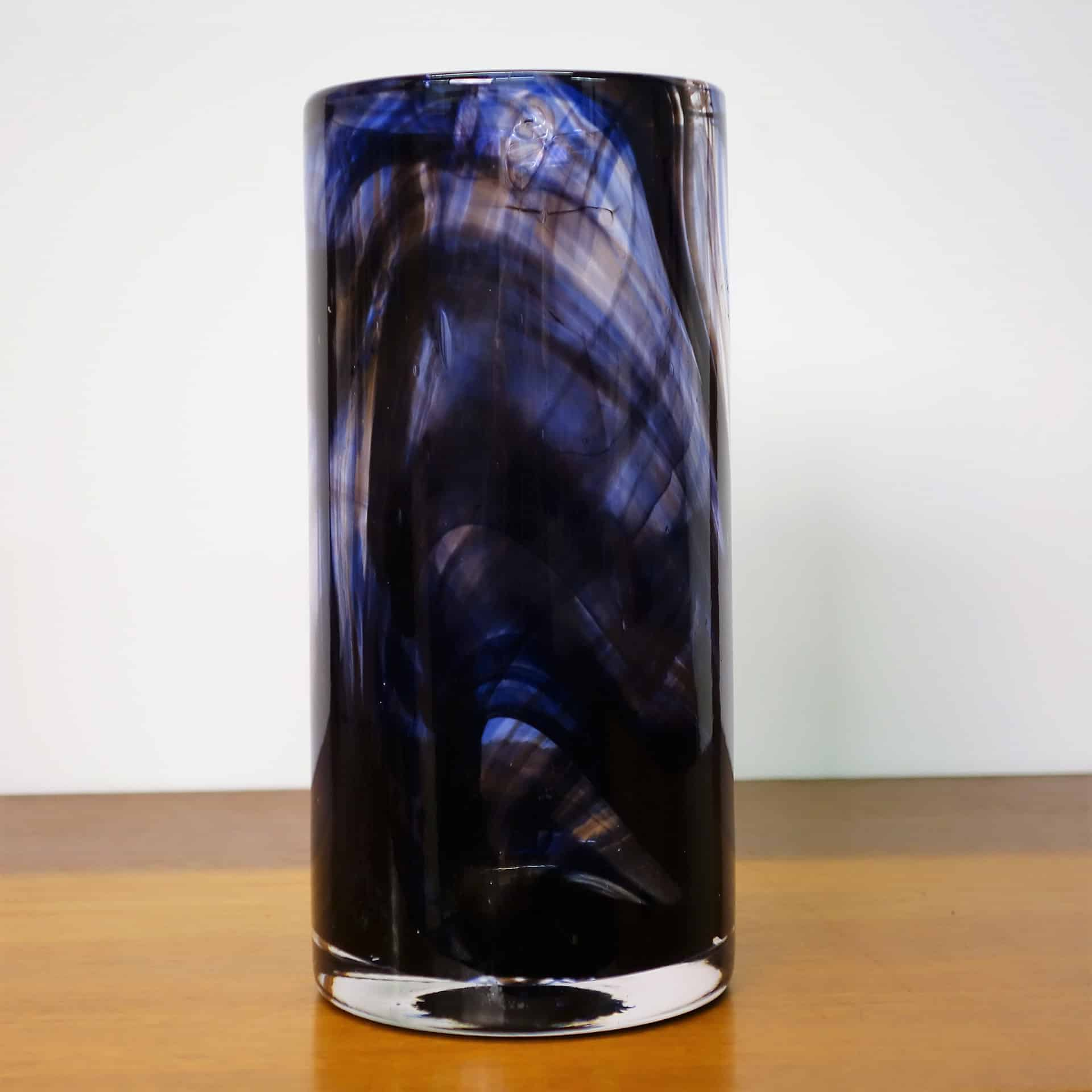 Whitefriars small cylindrical purple streaky vase