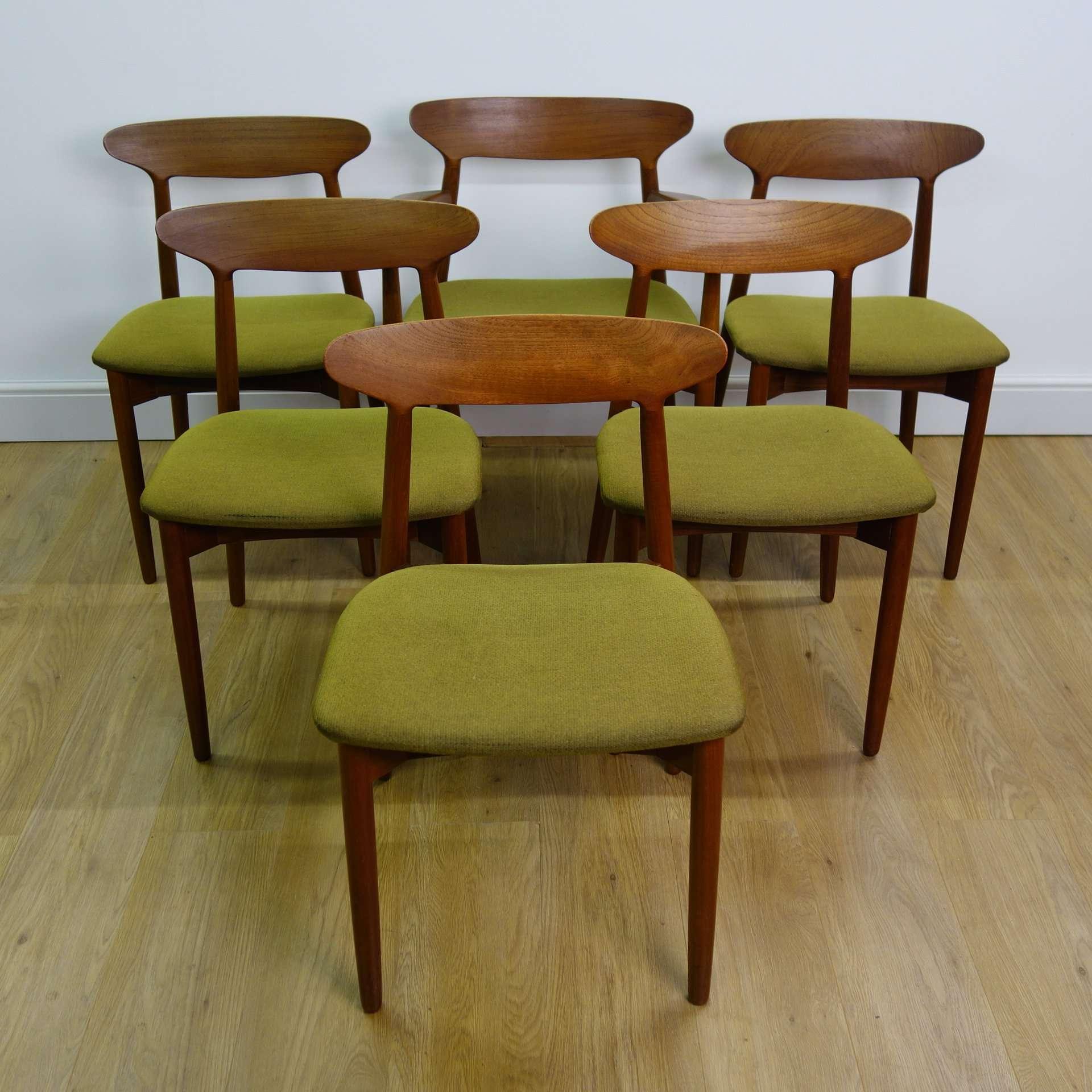 Danish Teak Dining Chairs By Harry Ostergaard Mark Parrish Mid Century Modern
